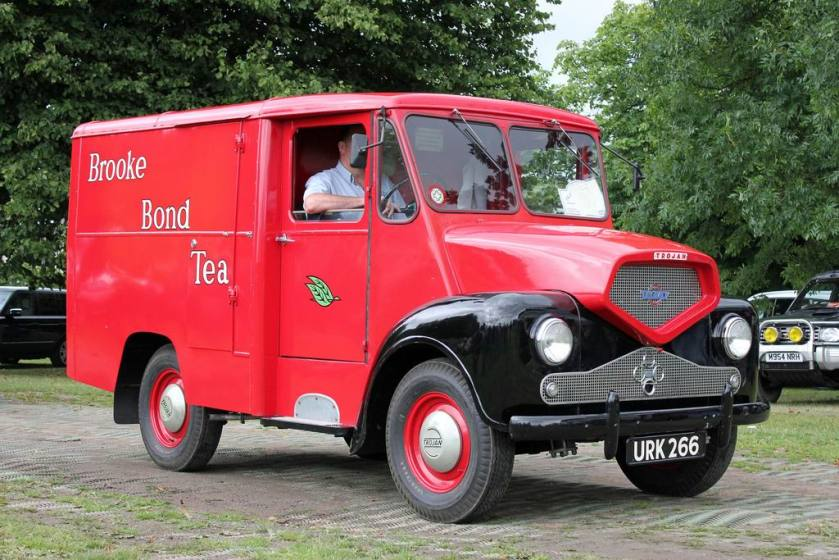 1958 URK268 Trojan in the livery of Brooke Bond Tea