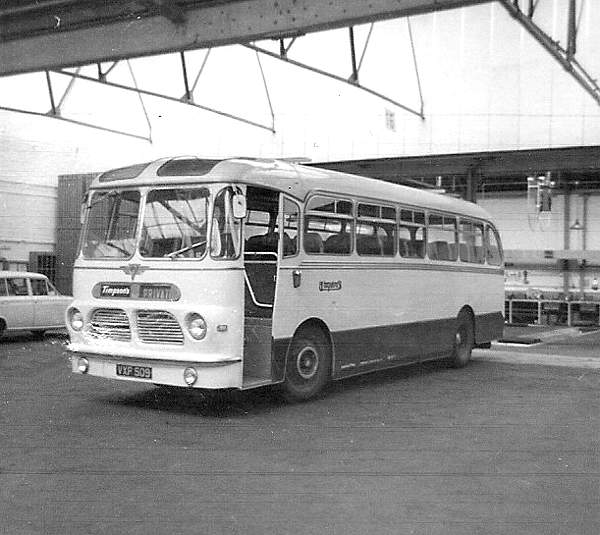 1959 AEC Reliance with Harrington Wayfarer C37F body