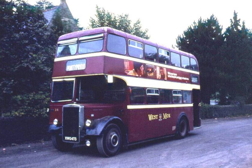 1959 Leyland PD2-40 with Longwell Green L27-28RD body XWO473