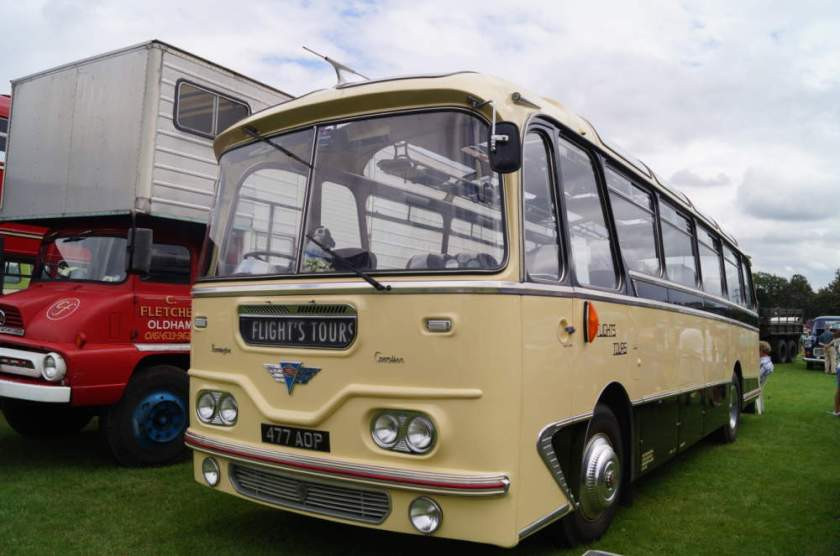 1960 AEC Reliance 477AOP dates and has an early Harrington Cavalier body