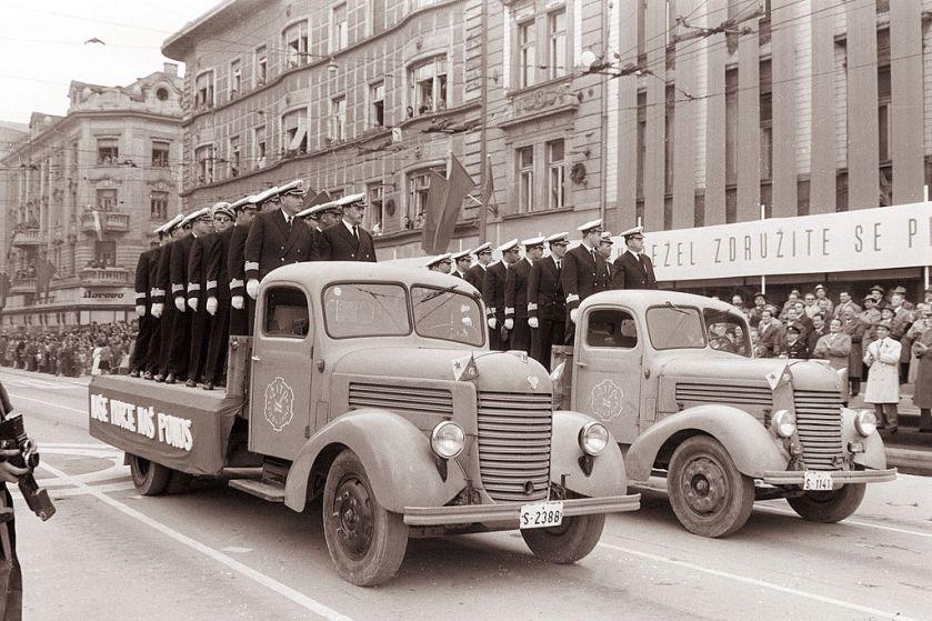 1961 Prvomajski sprevod v Ljubljani