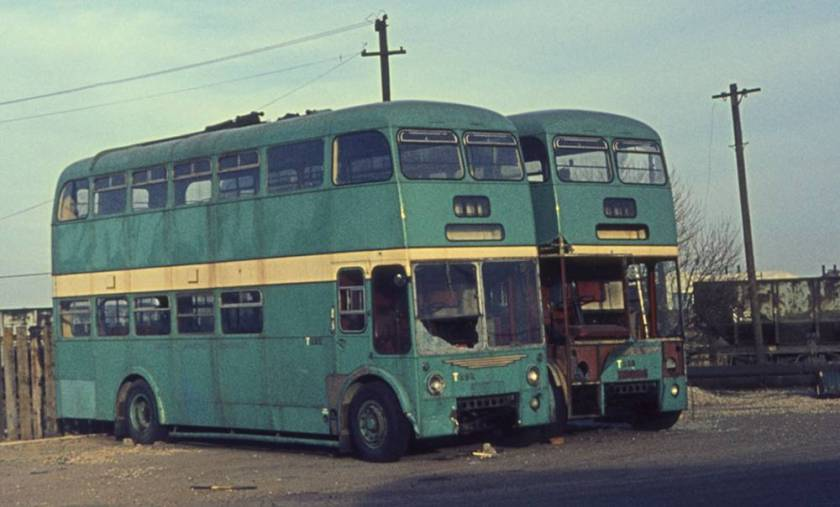 1961 Sunbeam F4A trolleybuses with Burlingham H38-30F bodies