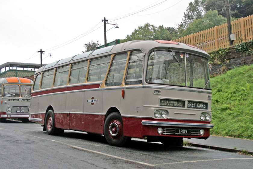 "1962 AEC Reliances with the 7'6"" wide variant of the Harrington Cavalier body"