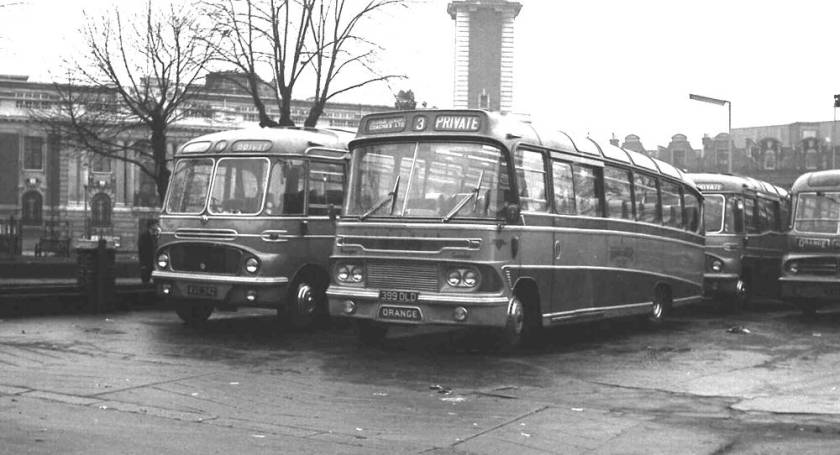 1962 Bedford SB8s with Harrington C37F bodies of Orange Luxury Coaches
