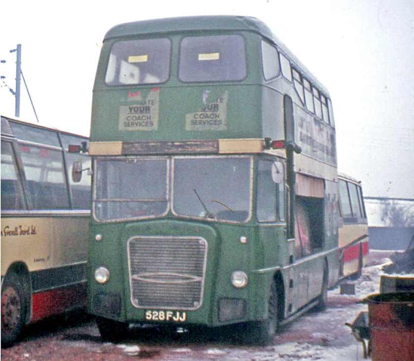 1963 Ford Thames Traders with Strachans bodies seating 33 upstairs and carrying 23 bikes downstairs a