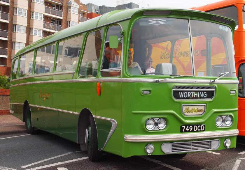 1963 Leyland Leopard L2T fitted with a Harrington C28F short Grenadier body
