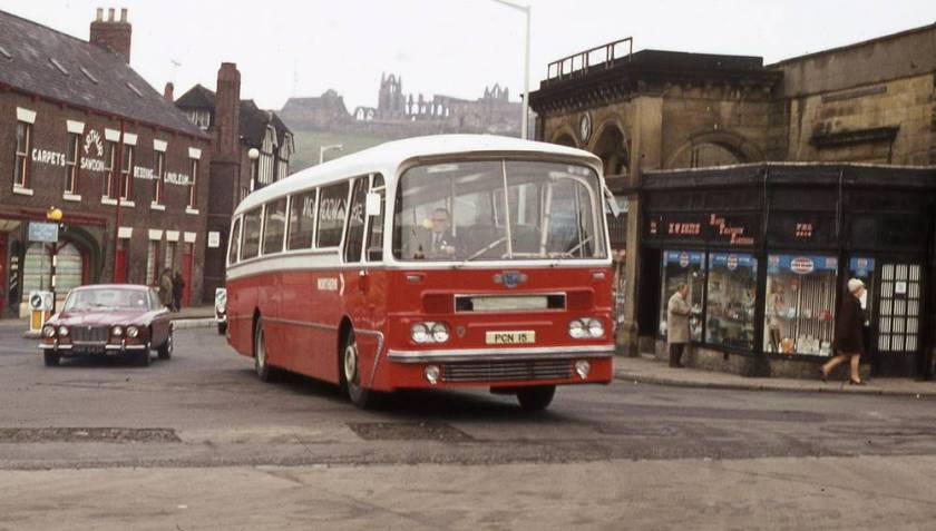 1963 Leyland Leopard PSU3-3R with Harrington Grenadier C44F bodywork.