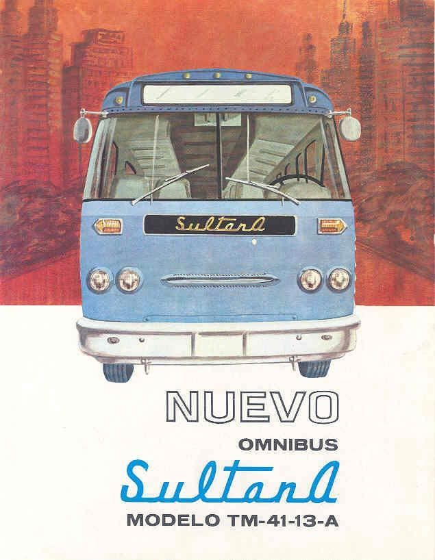 1963 Sultana GMC TM4113A Bus Brochure Mexico