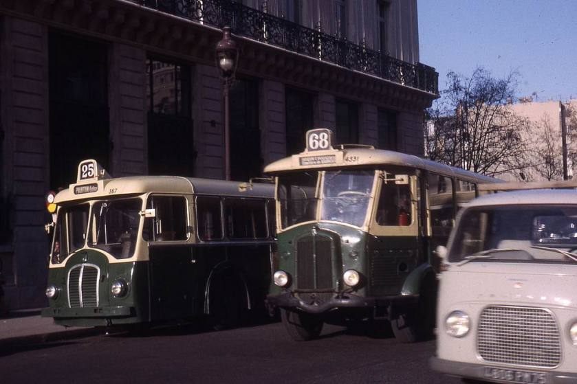 1964-0643 - Paris RATP, autobus Somua OP5-3 & TH4H