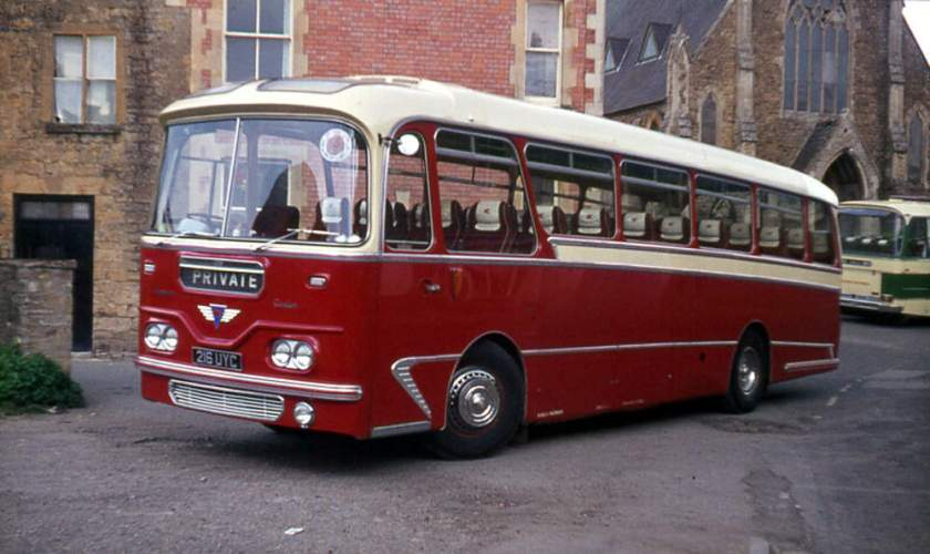 1964 A.E.C. 2MU3RA Reliance 216UYC with Harrington Cavalier 315 C41F body