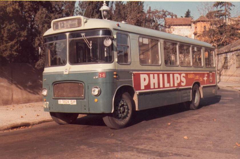 1964 Aclo 407 bus, rebodied as a single-deck bus by Seida de Bilbao in 1964