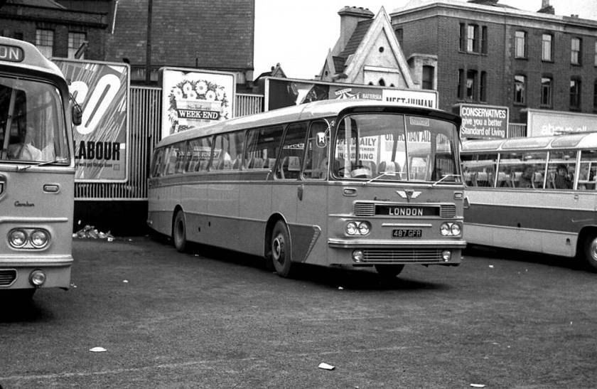 1964 Blackpool 487GFR a Harrington Grenadier C45F bodied AEC 2U3RA Reliance