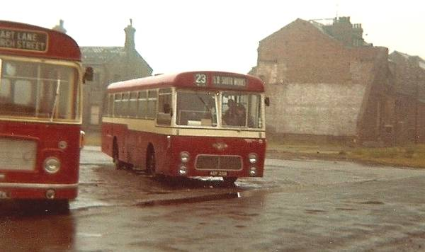 1964 Leyland Leopards in 1964 with unusual but very neat Strachan dual entrance bodywork seating 45