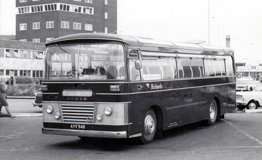 1964 Strachans bodied Dodge S307-190T coaches