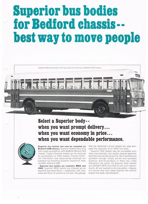 1964 SUPERIOR 5000 op Bedford a