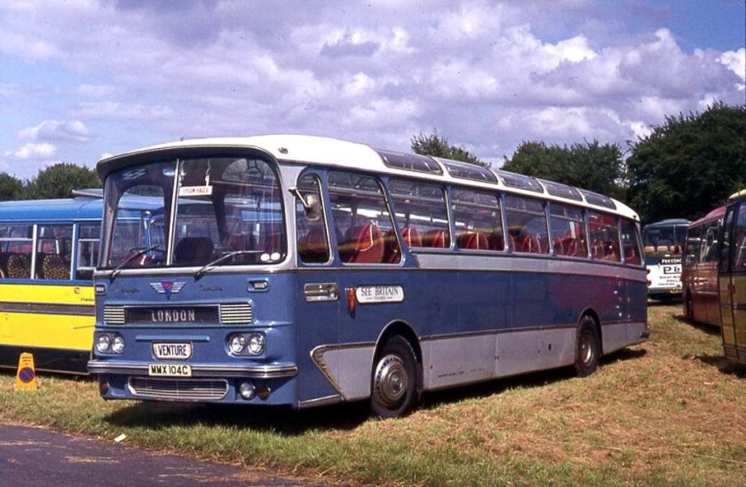 1965 AEC 2U3RA Reliance with a Harrington Cavalier 36 C45F body
