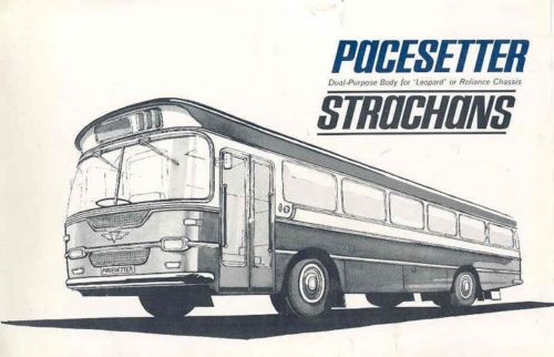 1965 AEC Reliance Leyland Lepard Strachans Bus Brochure