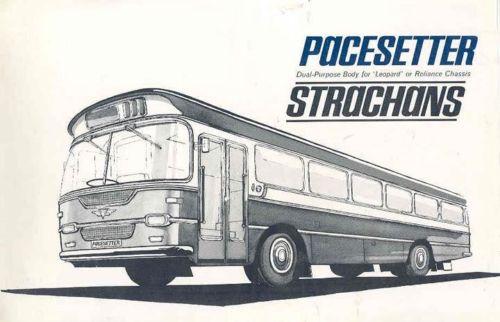 1965 AEC Reliance Leyland Lepard Strachans Bus Brochure