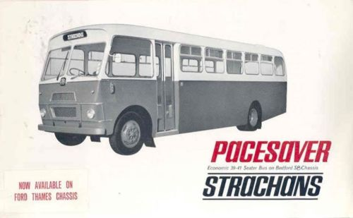 1965 Bedford SP Strachans Paysaver Transit Bus Brochure