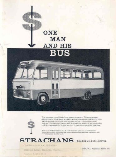 1965 Bedford VAS Strachans 30 Seat Bus Brochure