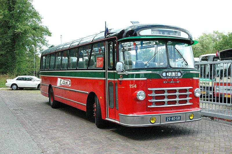 1965 DAF-bus DAM 154 met carrosserie van Smit Appingedam.