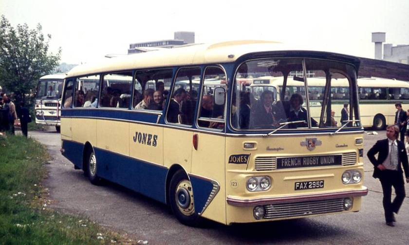 1965 Leyland L2T Leopard with a Harrington Grenadier C45F body