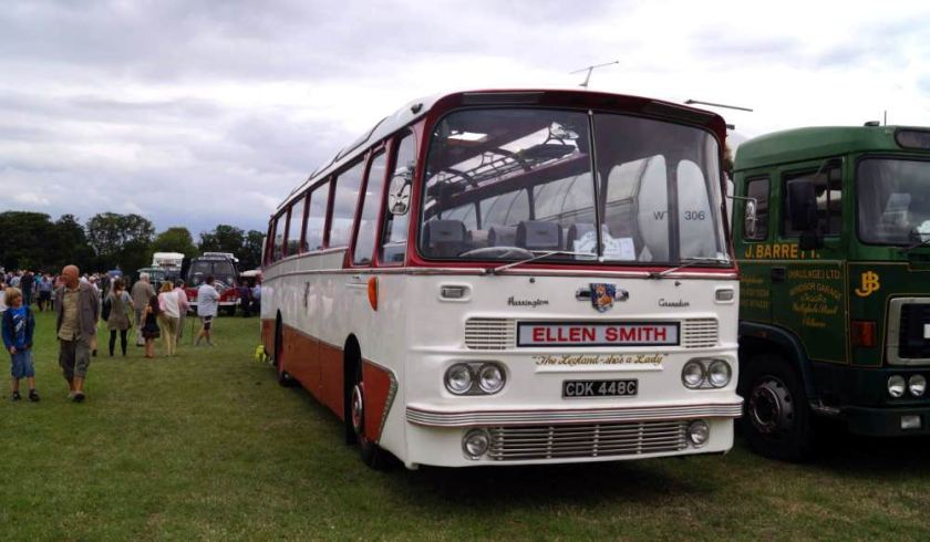 1965 Leyland Leopard PSU3-3R, CDK448C, and carries a Harrington Grenadier body