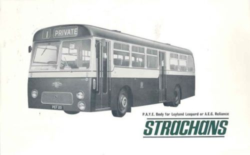 1965 Leyland Leopard Strachans Transit Bus Brochure