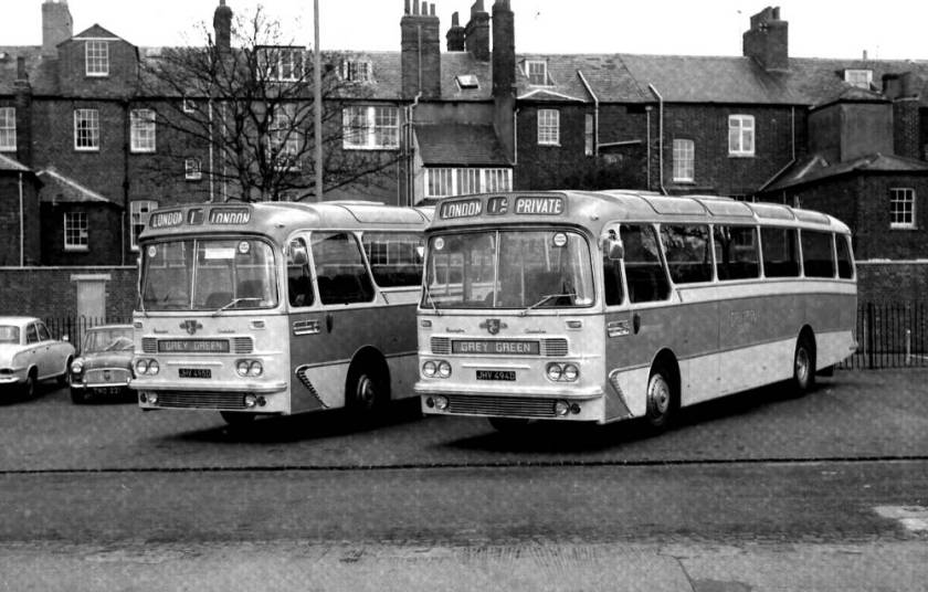 1965 Leyland PSU3-3R Leopards with Harrington Grenadier C51F bodies fitted with Cavalier windscreens and front domes