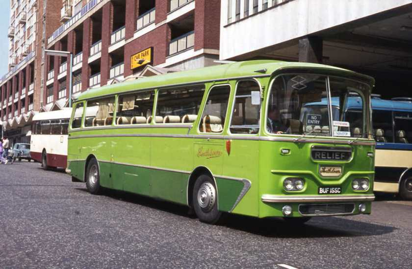 1965 Leyland PSU3-3RT Leopard with a shortened Harrington Grenadier body built as C41F