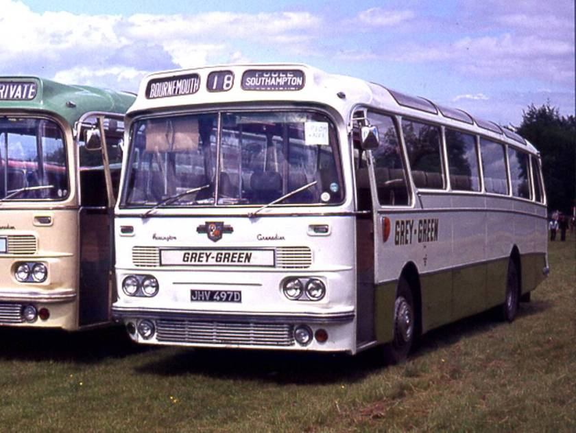 1966 Harrington Grenadier C45F bodied Leyland PSU3-3RT Leopard