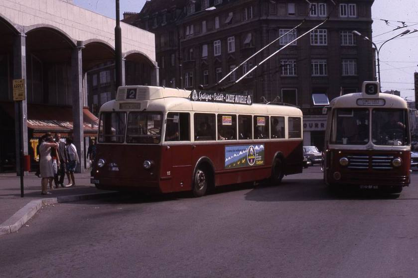 1966 JHM-1966-0452 - Mulhouse, trolleybus Somua & bus Floirat