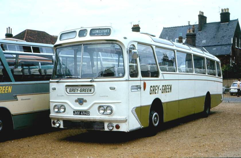1966 Leyland Leopard PSU3-3R with Harrington Grenadier C45F body a