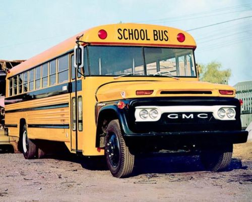 1966 Superior School Bus Photo Poster
