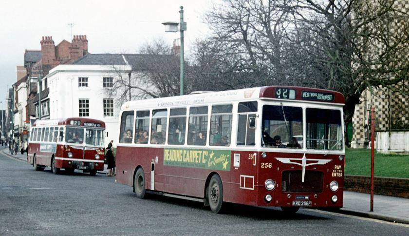 1967 Bristol RELL6G Strachan B34D + 218 SRD18 1959 AEC Reliance 2MU3RV Burlimgham B34D