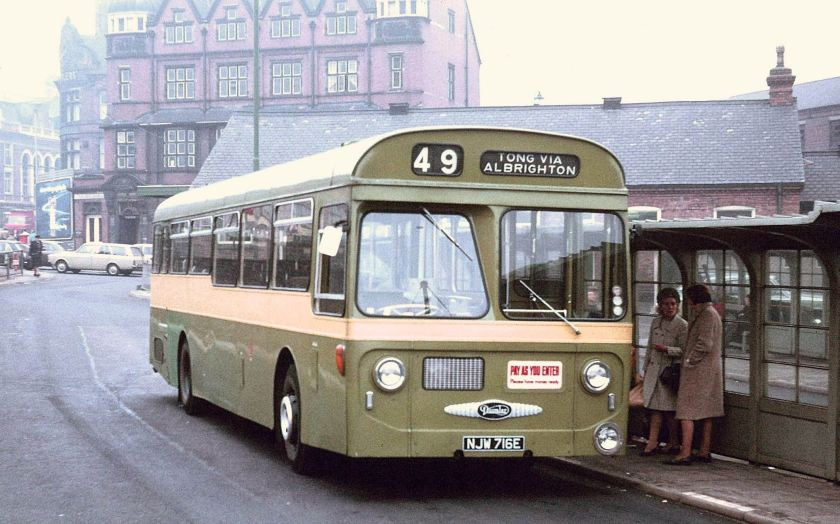1967 Daimler Roadliner SRC6 Strachan B54D in Victoria Square Bus Station