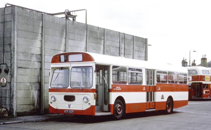 1968 AEC Swift MP2R Strachan B47D at Portswood Garage