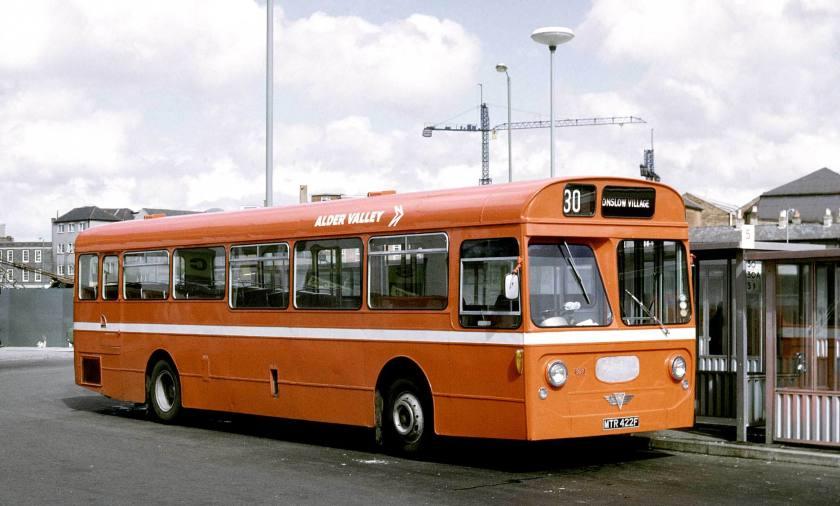 1968 AEC Swift MP2R Strachan B47D originally Southampton Corporation 4 in Guildford Farnham Road Bus Station