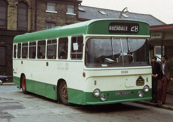 1969 Leyland Leopard PSU4A-2R with a 43 seat Pennine body