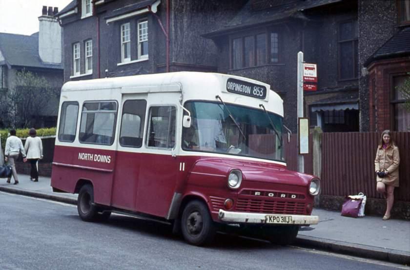 1970 Ford Transit with Strachan B16F body