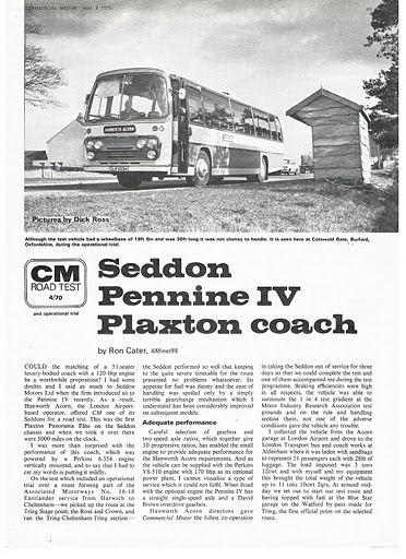 1970 PLAXTONS (5) Pennine IV op SEDDON