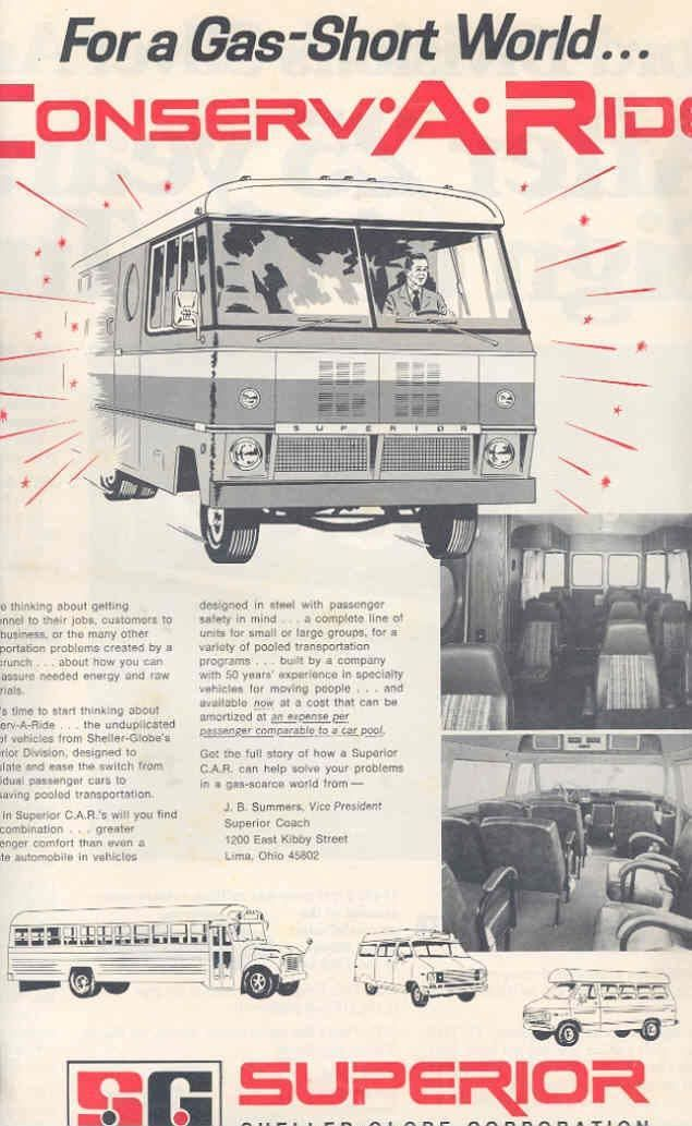 1974 Superior Bus Magazine Advertisement
