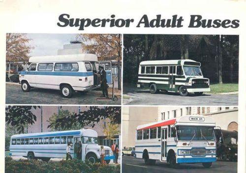 1975 Superior Transit Shutle Bus Van Brochure Chevrolet