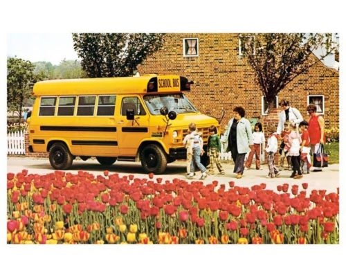 1978 Superior Chevrolet Van School Bus Factory Photo