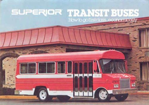 1980 Superior Transit Bus Brochure