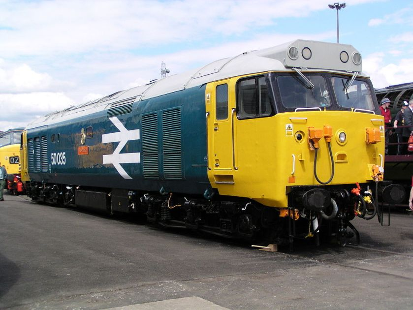 50035 'Ark Royal' at Doncaster Works