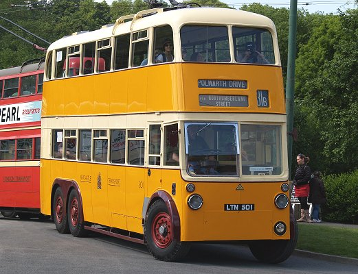 6-wheeled Sunbeam MS3 trolleybus that was operated by Newcastle Transport