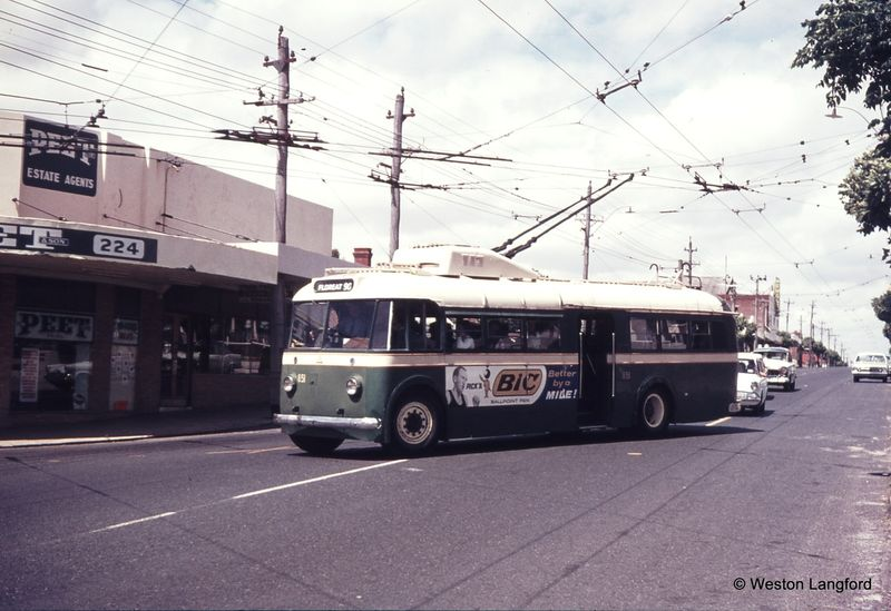 Cambridge Street and Gregory Street Down ARHS Special Sunbeam Trolleybus 851