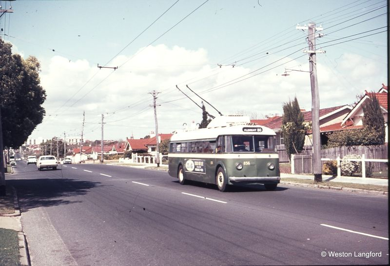 Cambridge Street near Holland Street Route 108 Westbound Sunbeam Trolleybus 856