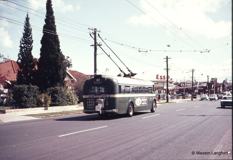 Cambridge Street near Holland Street Route 80 Westbound Sunbeam Trolleybus 856